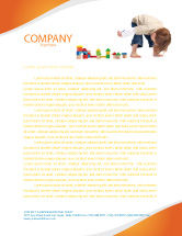 Education & Training: Child Games Letterhead Template #03642