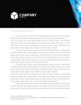 Technology, Science & Computers: Digital Stream Letterhead Template #03656