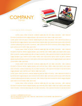 Education & Training: Computer Study Letterhead Template #03659