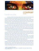 Global: Face of Earth Letterhead Template #03663