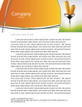 Careers/Industry: Corn Oil Letterhead Template #03664