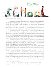 Education & Training: School Word Letterhead Template #03693