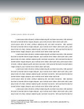Education & Training: Teaching Letterhead Template #03696