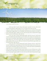 Nature & Environment: Wind Mills Letterhead Template #03715