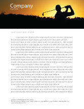 Sports: Golf Game On The Sunset Letterhead Template #03731
