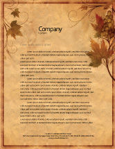 Agriculture and Animals: Autumn Theme in Light Brown Letterhead Template #03734