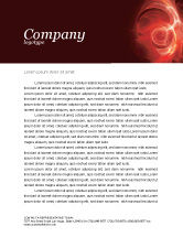 Abstract/Textures: Red Fantasy Letterhead Template #03749
