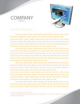 Technology, Science & Computers: Long Range Education Letterhead Template #03754