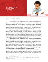 Education & Training: Kid Leren Briefpapier Template #03759
