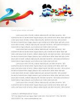 General: Rainbow Socks Letterhead Template #03760