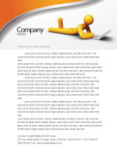Education & Training: Orange Man With Laptop Letterhead Template #03773