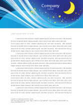 Abstract/Textures: Starry Night Letterhead Template #03794