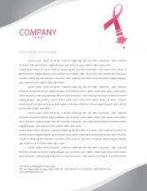 Medical: Breast Cancer Ribbon Letterhead Template #03816