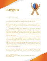 Consulting: Cerebral Hemispheres Letterhead Template #03840
