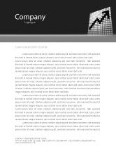 Financial/Accounting: Economy Rise Letterhead Template #03866