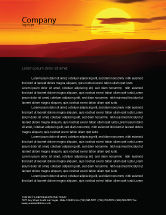 Nature & Environment: Sunset Letterhead Template #03871