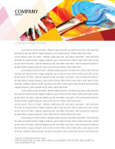 Art & Entertainment: Oil Painting Letterhead Template #03873