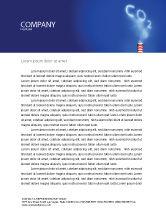 Nature & Environment: Carbonic Gas Letterhead Template #03874
