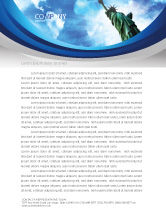 America: America and World Letterhead Template #03882