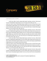 Legal: Crime Scene Letterhead Template #03883