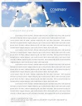 Military: Missiles Letterhead Template #03894