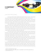 Cars/Transportation: Concept Cars Letterhead Template #03909