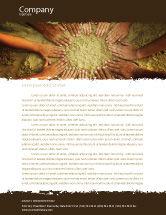 Religious/Spiritual: Unity hände berühren boden Briefkopf Vorlage #03911