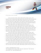 Religious/Spiritual: Autism Awareness Ribbon Letterhead Template #03914