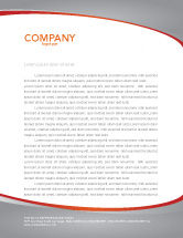 Business Concepts: Rising Percent Letterhead Template #03922
