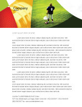 Sports: American Football in School Letterhead Template #03952