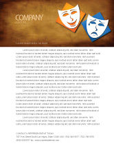 Art & Entertainment: Drama Letterhead Template #03957