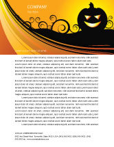 Holiday/Special Occasion: Halloween is Near Letterhead Template #03967