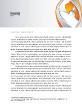 Telecommunication: Multicolored Wires On Orange Background Letterhead Template #03969