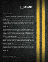 Cars/Transportation: Road Marking Letterhead Template #03971