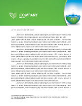 Nature & Environment: Blue Water Of A Green Planet Letterhead Template #03986