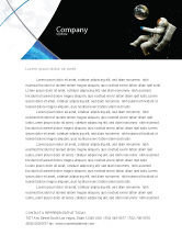 Technology, Science & Computers: Cosmonaut Letterhead Template #03991