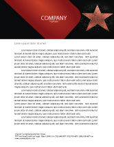 Careers/Industry: Walk of Fame Letterhead Template #04009