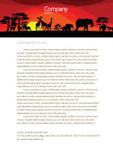 Nature & Environment: Savanna Sundown Letterhead Template #04012