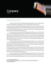 Military: American Armed Forces Letterhead Template #04026