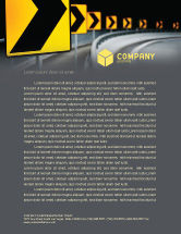 Construction: Road Reflector Letterhead Template #04032