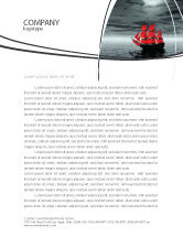 Careers/Industry: Scarlet Sails Letterhead Template #04038