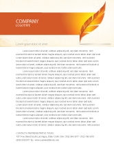 Art & Entertainment: Feather In Orange Color Letterhead Template #04049
