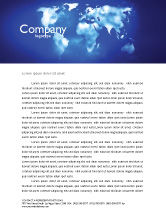 Global: Wide World Blue Map Letterhead Template #04050