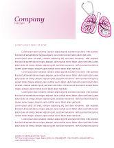 Medical: Human Lungs Letterhead Template #04078