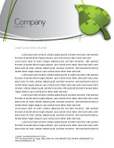 Nature & Environment: Green Ideas Letterhead Template #04090