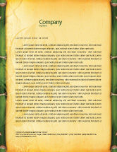 Abstract/Textures: Bamboo Theme Letterhead Template #04107
