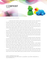 Education & Training: Stuffed Toys Letterhead Template #04109