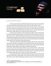 America: Voice of America Letterhead Template #04120
