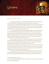 Military: Pirate Sign Letterhead Template #04124