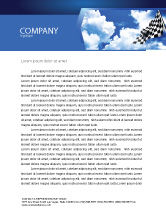 Flags/International: Homestretch Letterhead Template #04142